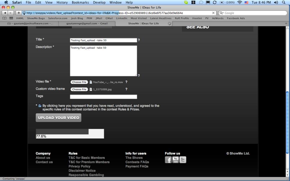 Uploading multiple files with nginx upload module and upload progress bar (2/3)