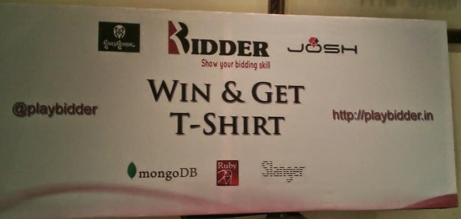 Bidder at RubyConf India 2014